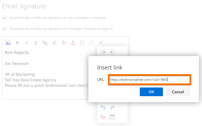 how to put facebook hyperlinks into outlook signature